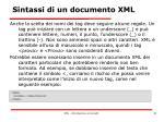 sintassi di un documento xml6