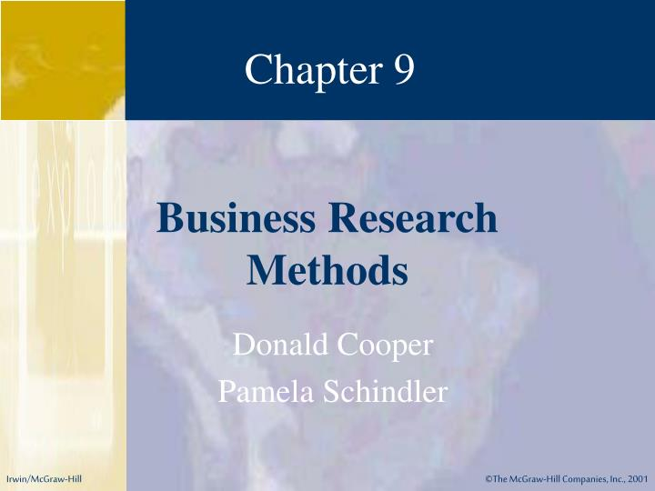 cooper and schindler Business research methods cooper schindler pdf business research methods with student cd rom: donald r , cooper and schindlers business research methods, 8e offers students and instructors thorough coverage of.