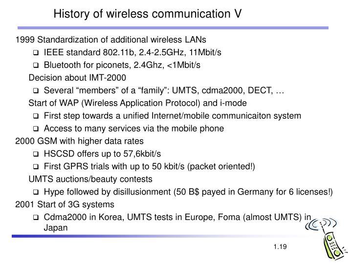 History of wireless communication V