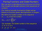 pairing functions and g del numbers2