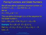 pairing functions and g del numbers6