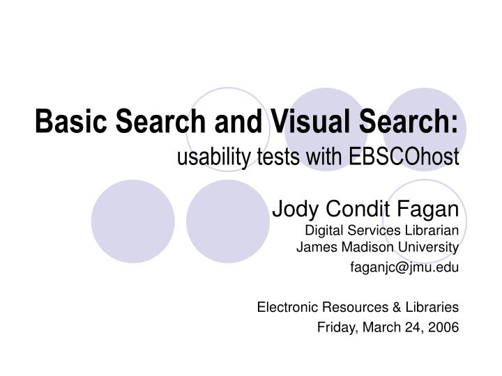basic search and visual search usability tests with ebscohost n.