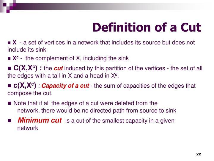 Definition of a Cut