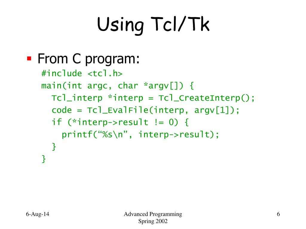 PPT - Tcl/Tk PowerPoint Presentation - ID:2954387