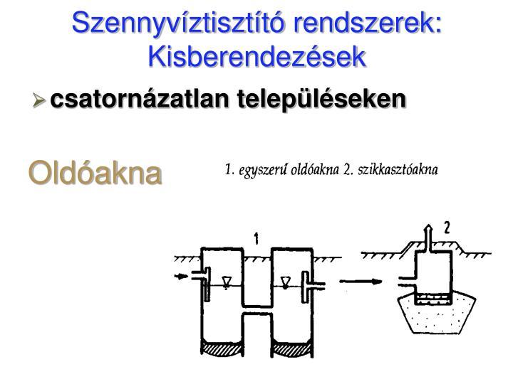Szennyvíztisztító rendszerek: