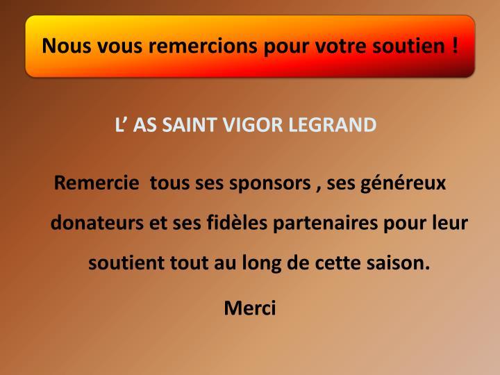 L' AS SAINT VIGOR LEGRAND