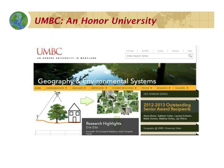 UMBC: An Honor University