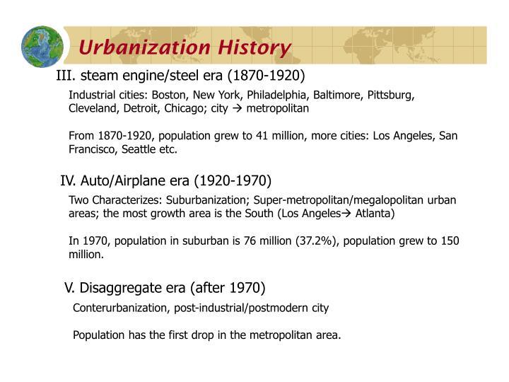 Urbanization History