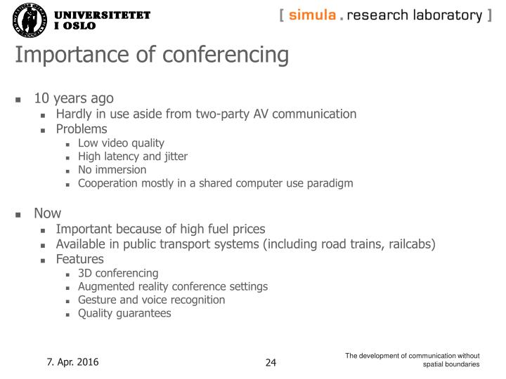 Importance of conferencing