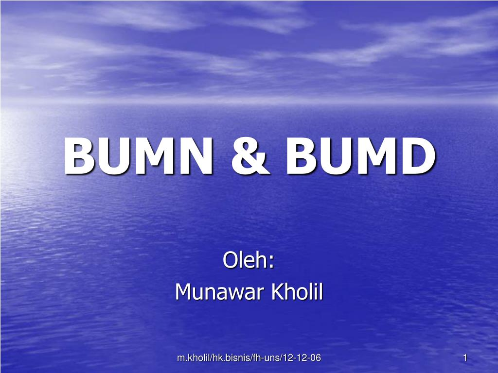Ppt Bumn Bumd Powerpoint Presentation Id 2954847