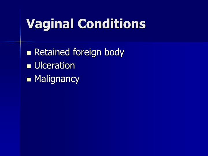Vaginal Conditions