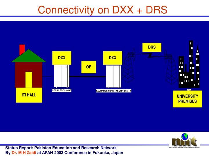 Connectivity on DXX + DRS