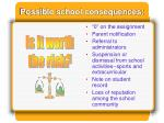 possible school consequences