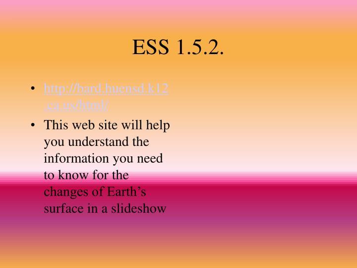 ESS 1.5.2.