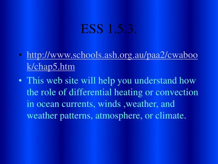 ESS 1.5.3.