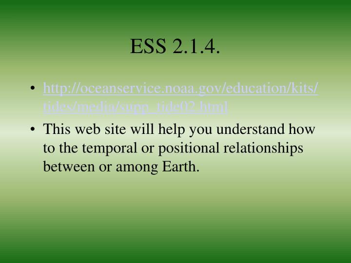 ESS 2.1.4.