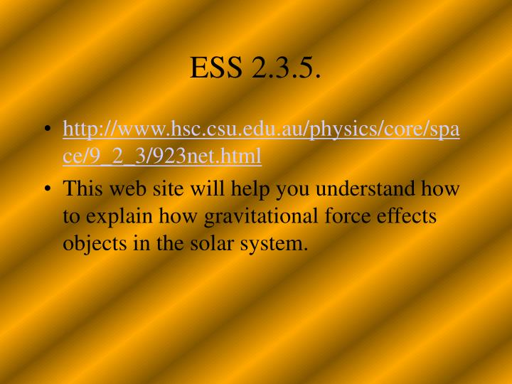 ESS 2.3.5.