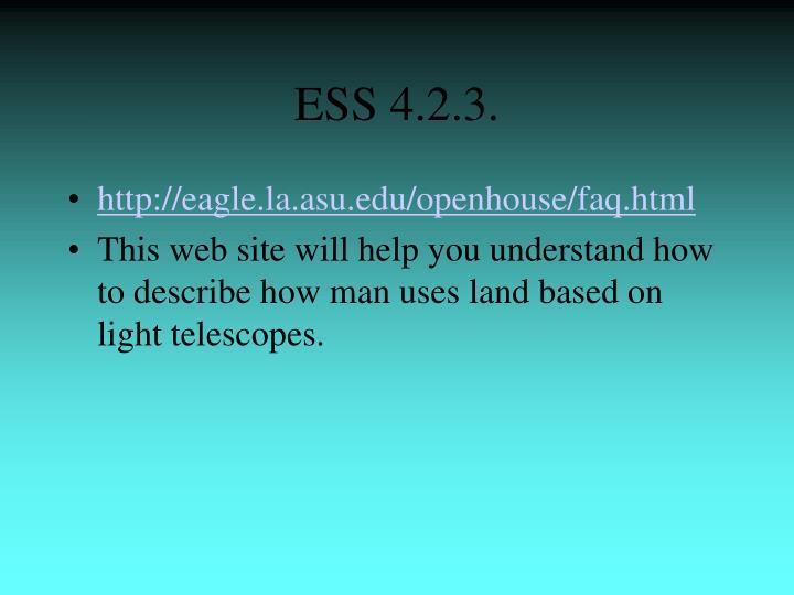 ESS 4.2.3.