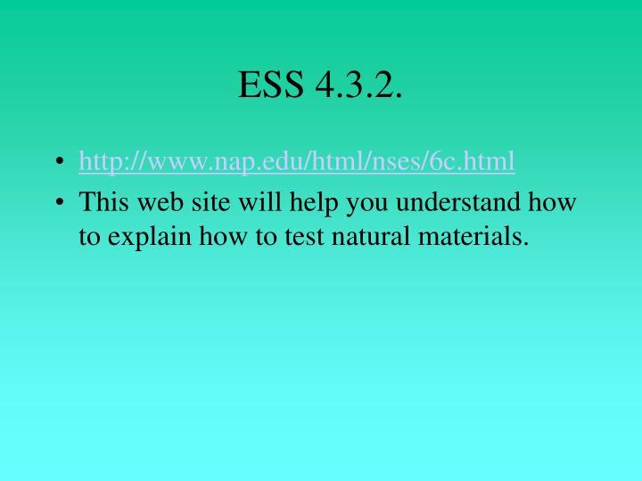 ESS 4.3.2.
