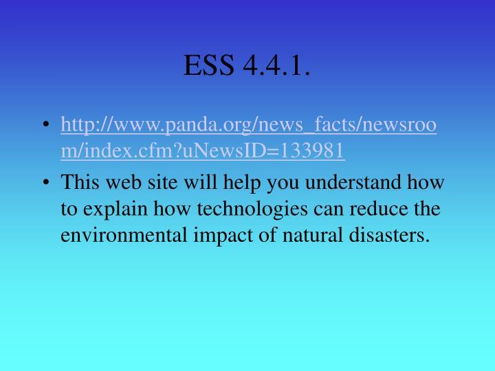 ESS 4.4.1.
