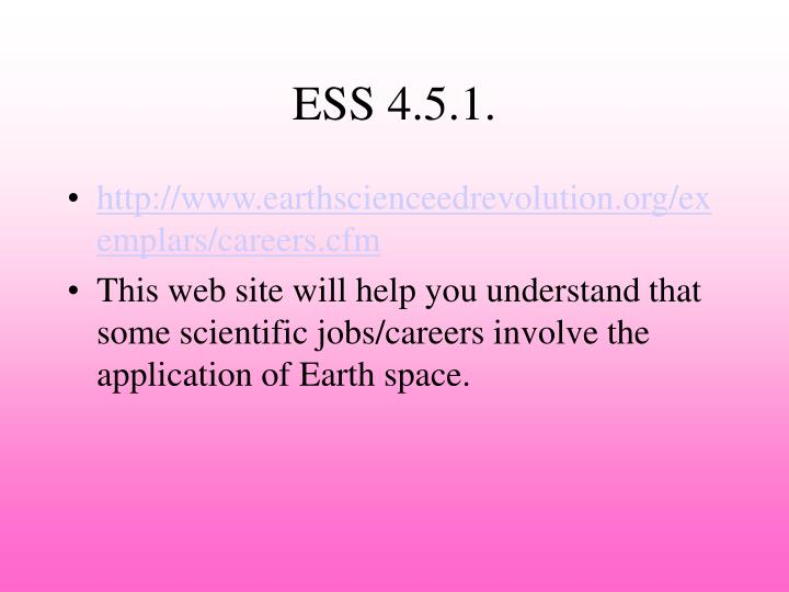 ESS 4.5.1.