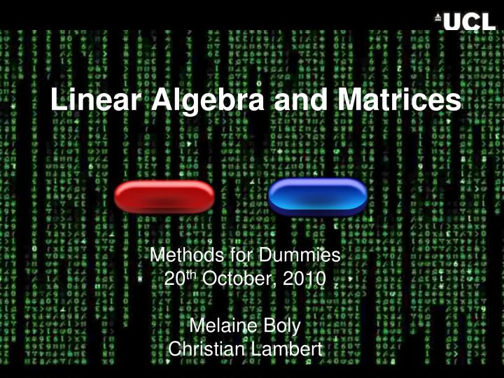 linear algebra and matrices n.