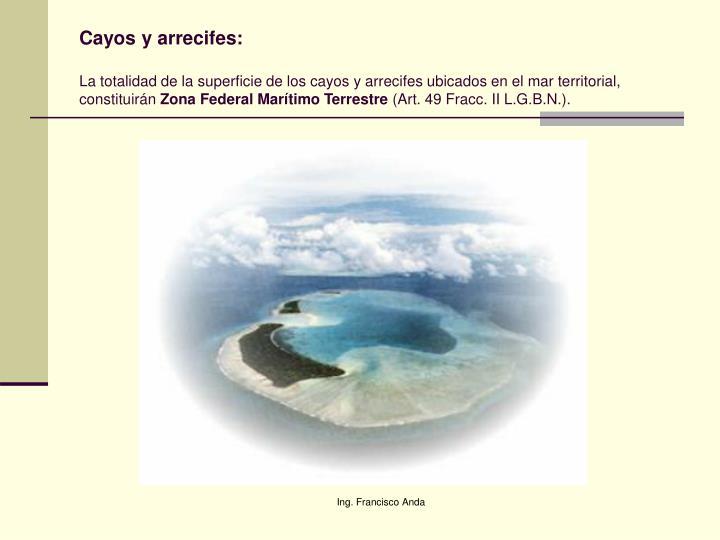 Cayos y arrecifes: