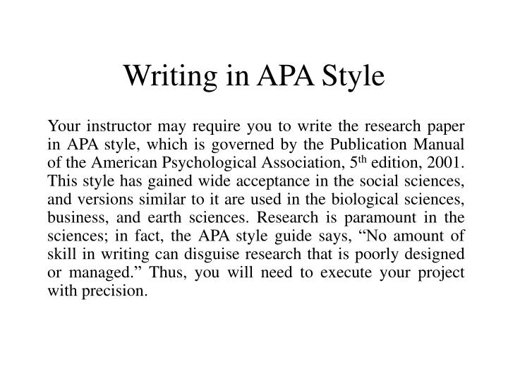 apa research paper instructions Description: write a 3 page paper about the life, work and theory of the theorist betty carter research from the internet using 5 different web sites apa style.