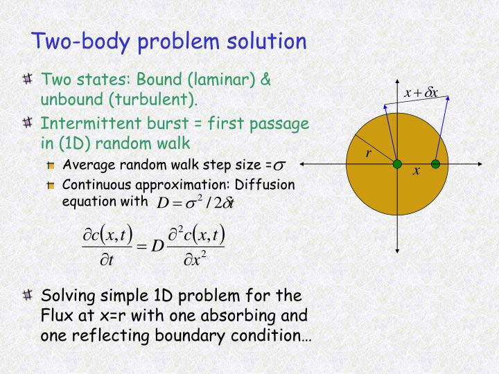 Two-body problem solution