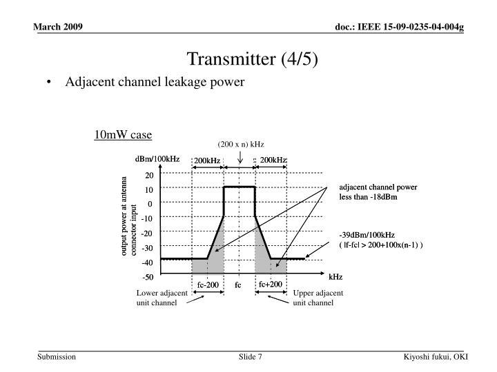 Transmitter (4/5)