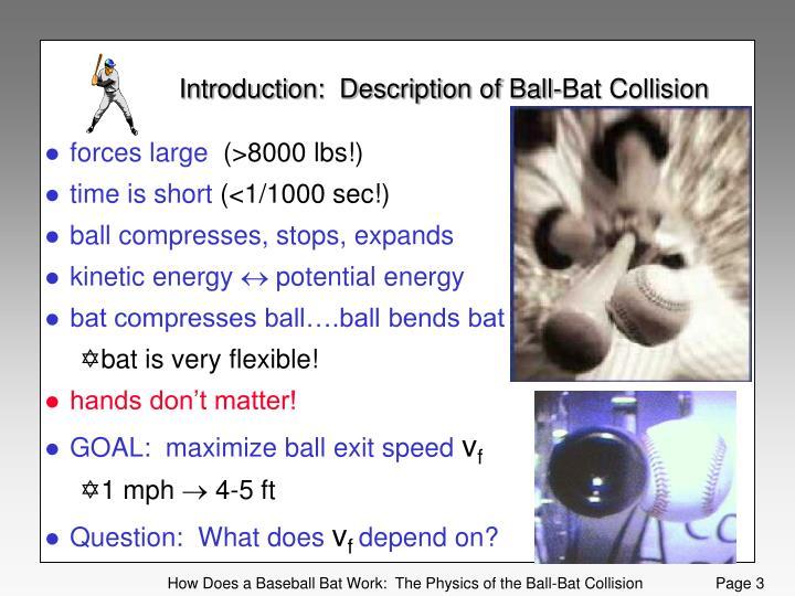 Introduction:  Description of Ball-Bat Collision