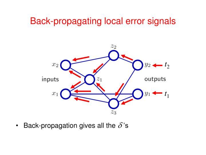Back-propagating local error signals