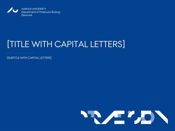 title with capital letters n.