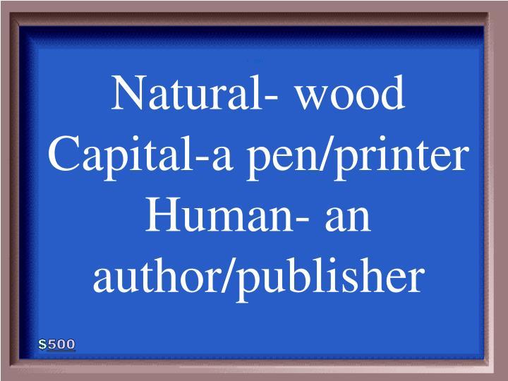 Natural- wood