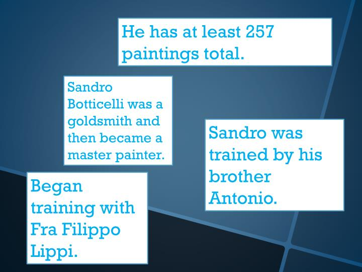 He has at least 257 paintings total.