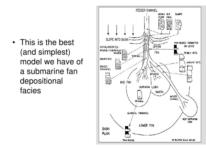 This is the best (and simplest) model we have of a submarine fan depositional facies