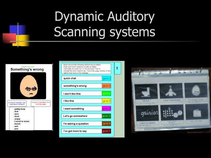 Dynamic Auditory
