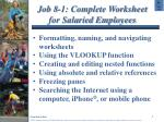 job 8 1 complete worksheet for salaried employees