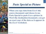 paste special as picture