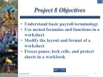 project 8 objectives