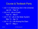 course textbook parts