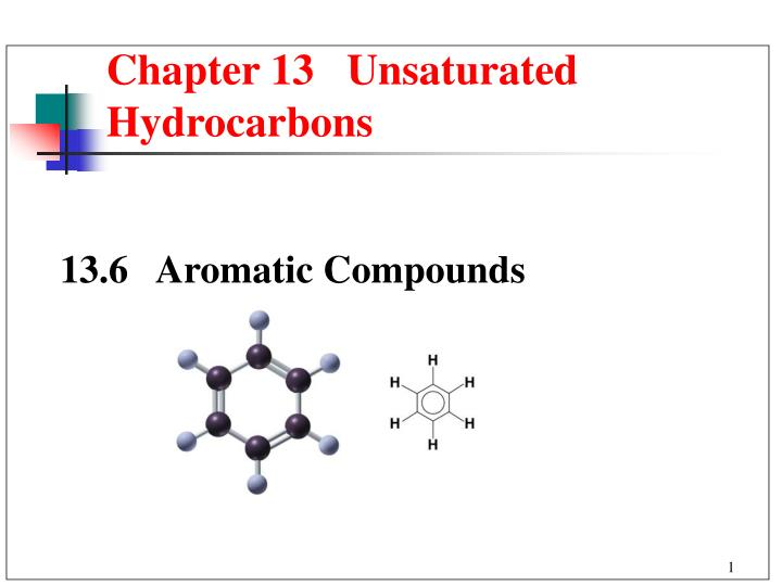 chapter 13 unsaturated hydrocarbons n.