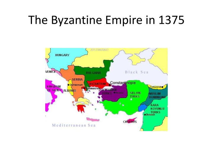The Byzantine Empire in 1375