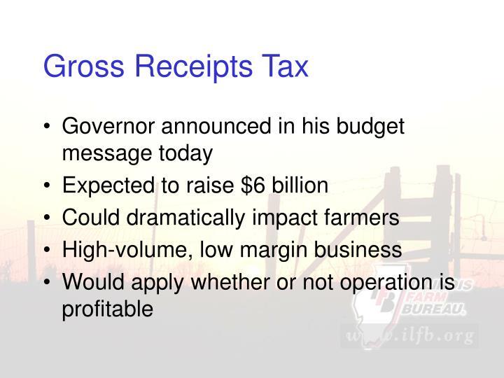 Gross Receipts Tax