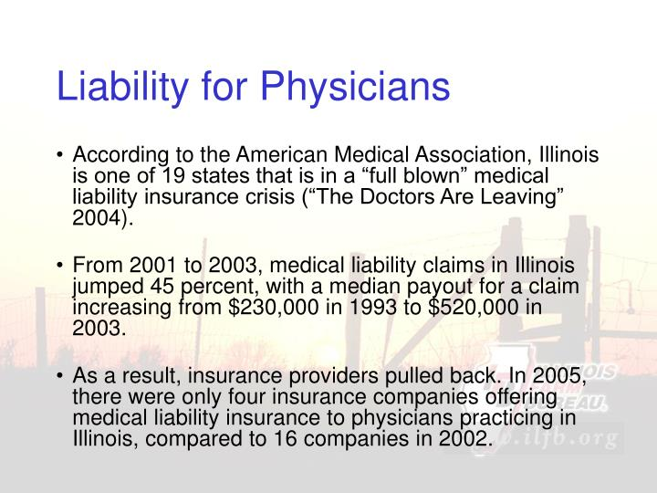 Liability for Physicians