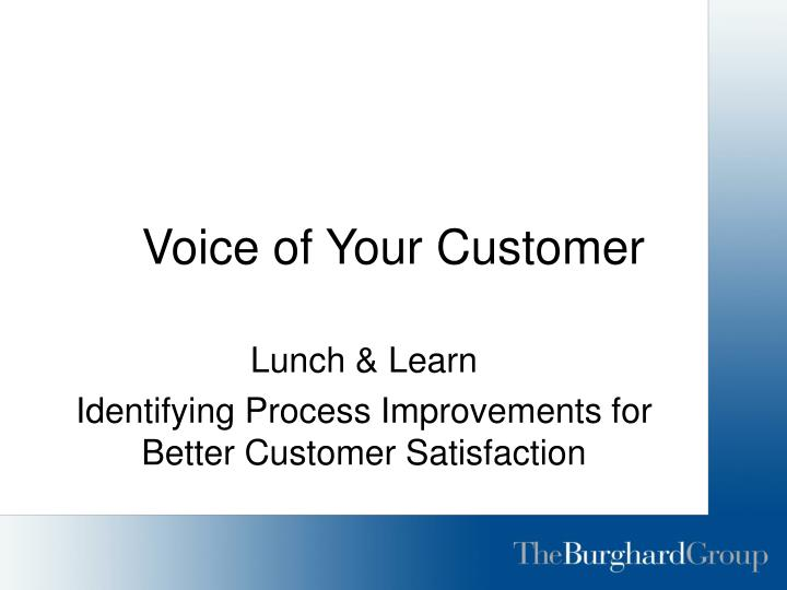 voice of your customer n.