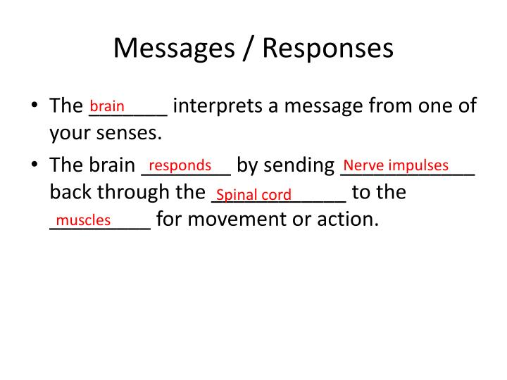 Messages / Responses
