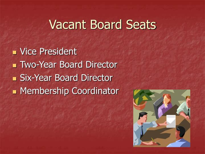 Vacant Board Seats