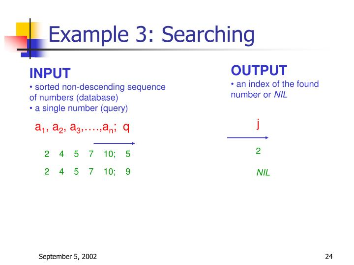 Example 3: Searching
