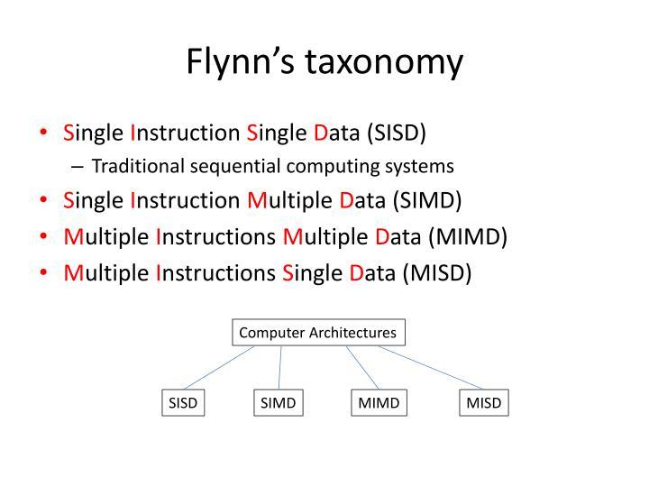 Flynn s taxonomy